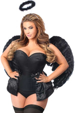 4 PC Angel Of Darkness Corset Costume - Fashion