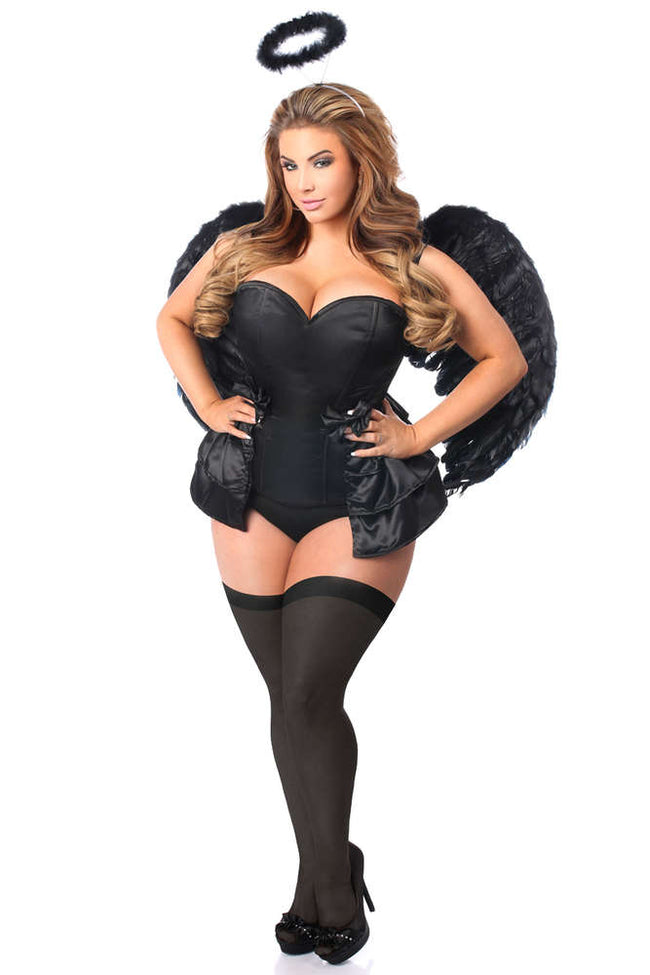 4 PC Angel Of Darkness Corset Costume - Females Fashion