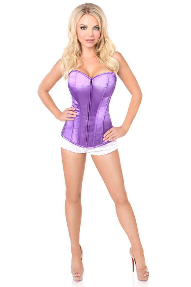 Amethyst Sweetheart Front Zipper Corset - Females Fashion