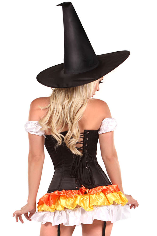 4 PC Witch Corset Costume - Females Fashion