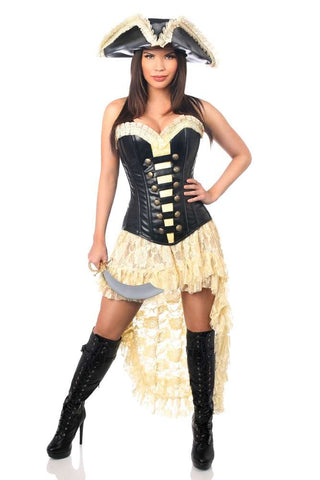 4 PC Pirate Wench Costume - Fashion