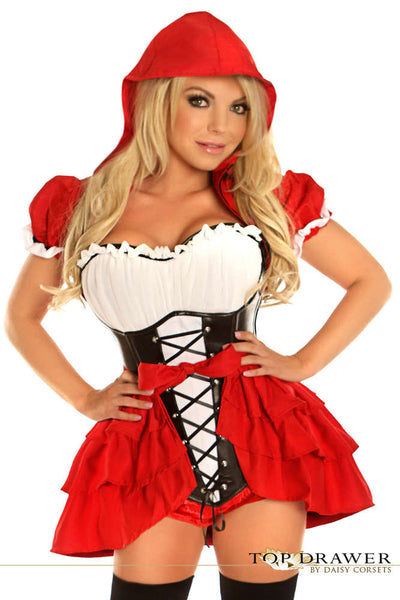 3 PC Red Riding Hood Costume - Fashion