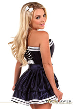 4 PC Navy Sailor Corset Costume - Females Fashion
