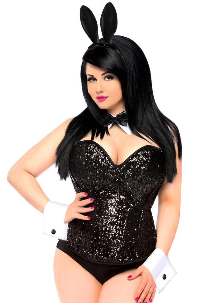 Plus Size  Sequin Bunny Costume - Fashion