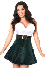 Steel Boned Holiday Corset Dress - Fashion