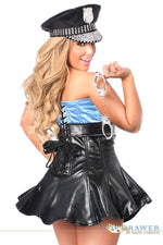 Premium Cop Corset Costume - Females Fashion