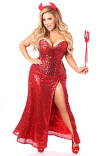 Premium Sequin Devil Costume - Fashion