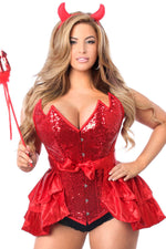 4 PC Daring Devil Corset Costume - Fashion
