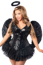 4 PC Sequin Night Angel Corset Costume - Fashion