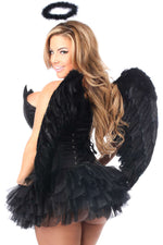4 PC Sequin Night Angel Corset Costume - Females Fashion