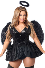 4 PC Fallen Angel Corset Costume - Fashion