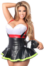 2 PC Flamin' Hot Firefighter Corset Costume - Fashion