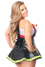 2 PC Flamin' Hot Firefighter Corset Costume - Females Fashion