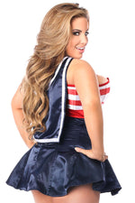 2 PC Pin-Up Sailor Corset Dress Costume - Females Fashion