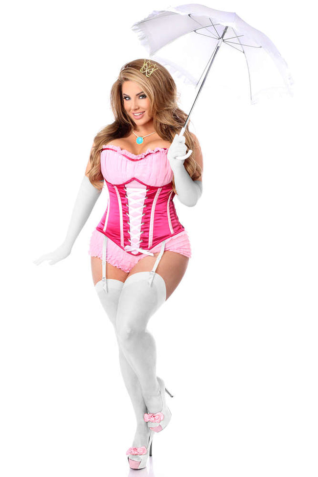 6 PC Sexy Pink Princess Corset Costume - Females Fashion