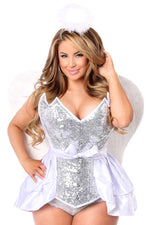 4 PC Sequin Innocent Angel Corset Costume - Fashion