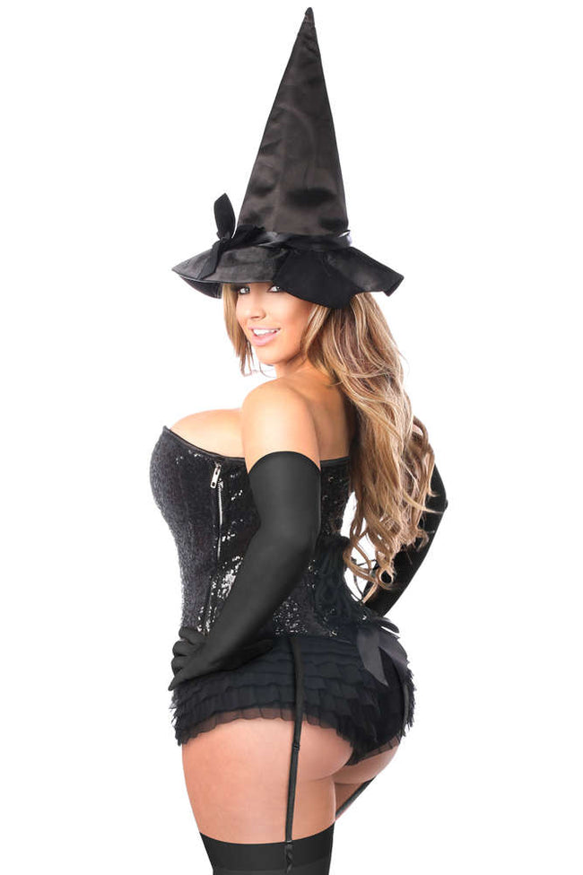 4 PC Sequin Witch Corset Costume - Females Fashion