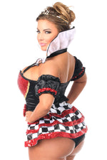 6 PC Royal Red Queen Corset Costume - Females Fashion