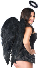 4 PC Midnight Angel Corset Costume - Females Fashion