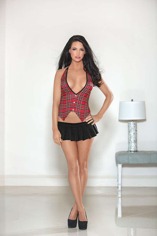 Plaid Vest - Fashion