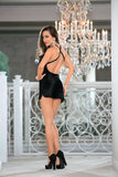 2 Pc Satin Chemise W/Feather Robe - S Fashion
