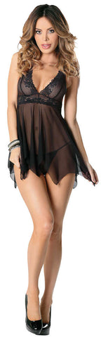 Lace And Mesh Baby Doll - Fashion