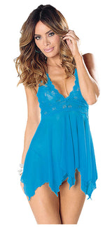 Lace And Mesh Baby Doll - Womens Fashion