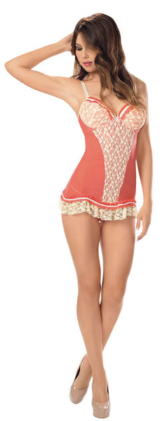 Sun Kissed Coral Chemise - Fashion