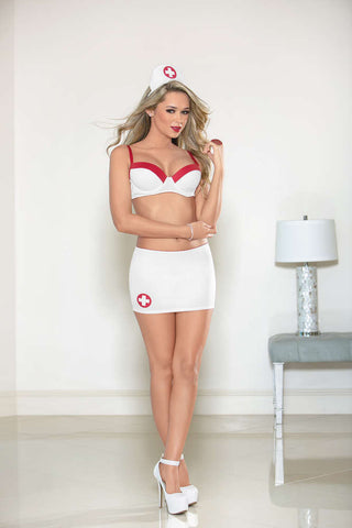 Nurse Bra Skirt Set - Fashion