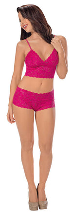 All Lace Boy Short Cami Set - Womens Fashion