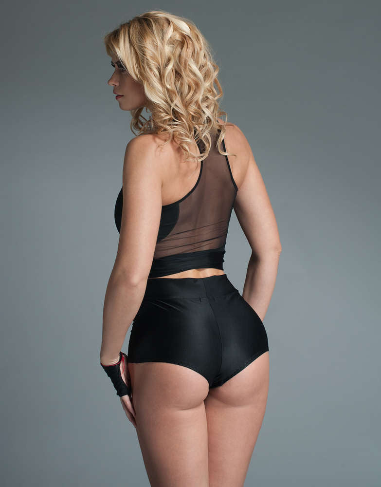 5242a6cfb63e1 Fearless And Fun Female Plus Size Cheeky High Waisted Lycra Shorts ...
