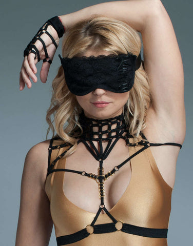 Black Lace Sleep Mask - Fashion