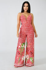 Fire Lilium Jumpsuit RED