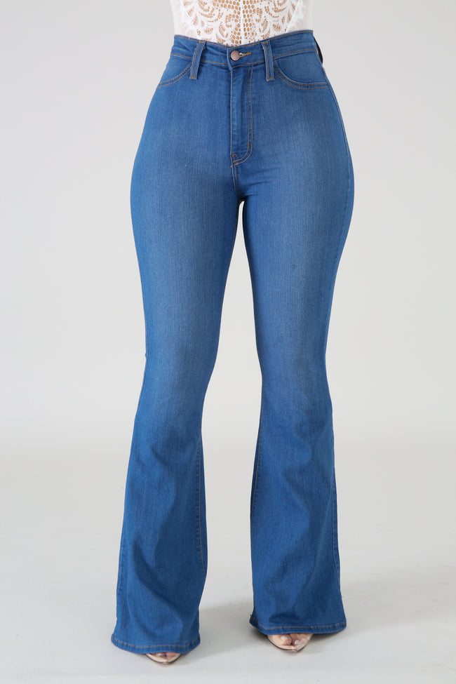 High Waist Denim Jeans LIGHT DENIM
