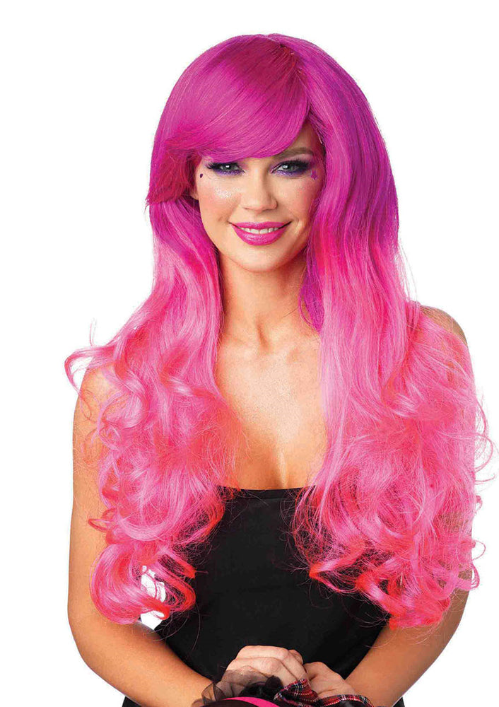 Leg Avenue Cambria Two-Tone Long Curly Wig K A2001