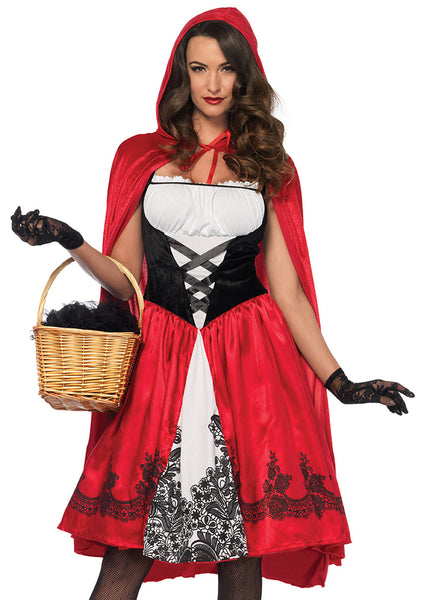 Leg Avenue Female 2PC.Classic Red Riding Hood Costume 85614