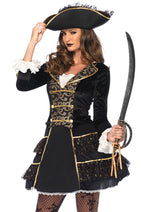 Leg Avenue Female 2PC.High Seas Pirate Captain Costume 85549