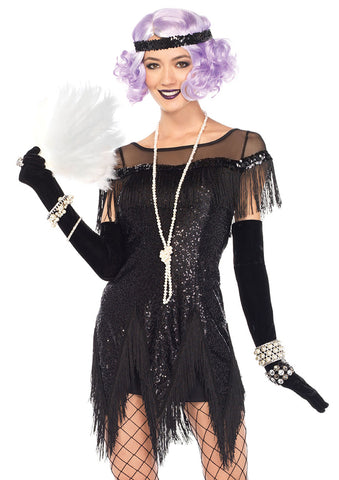 Leg Avenue Female 2PC.Roaring 20'S Trixie Costume 85568