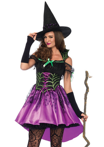 Leg Avenue Female 2PC.Spiderweb Witch Costume 85606