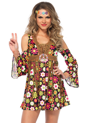 Leg Avenue Female 2PC.Starflower Hippie Costume 85610