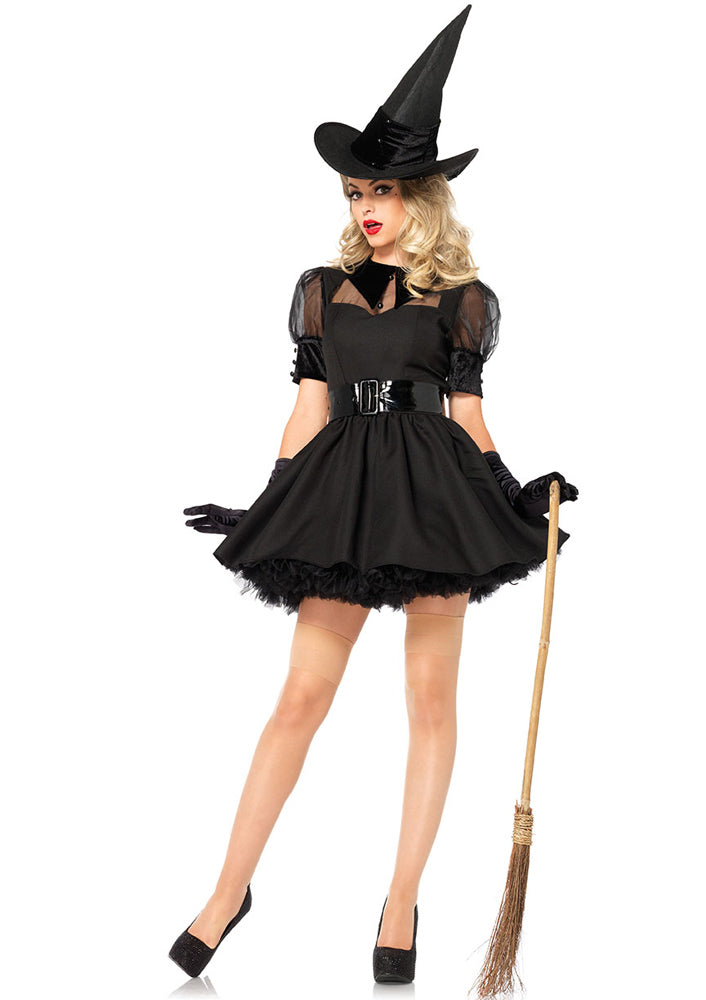 Leg Avenue Female 3PC.Bewitching Witch Costume 85238