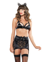 Leg Avenue Female 3PC.Cage Strap Bra 81465