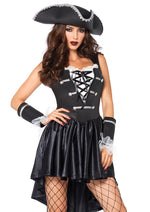 Leg Avenue Female 3PC.Captain Black Heart Costume 85210