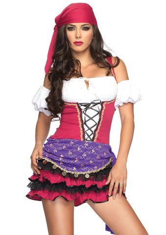 Leg Avenue Female 3PC.Crystal Ball Gypsy Costume 83671