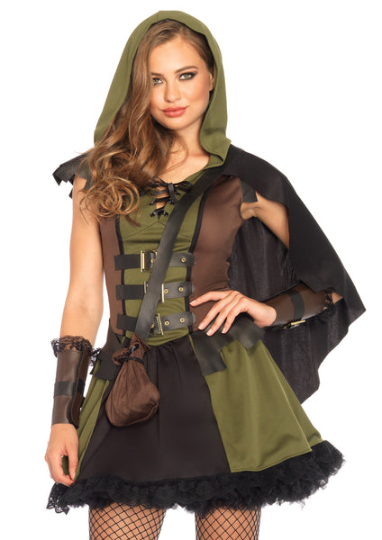 Leg Avenue Female 3PC.Darling Robin Hood Costume 85281