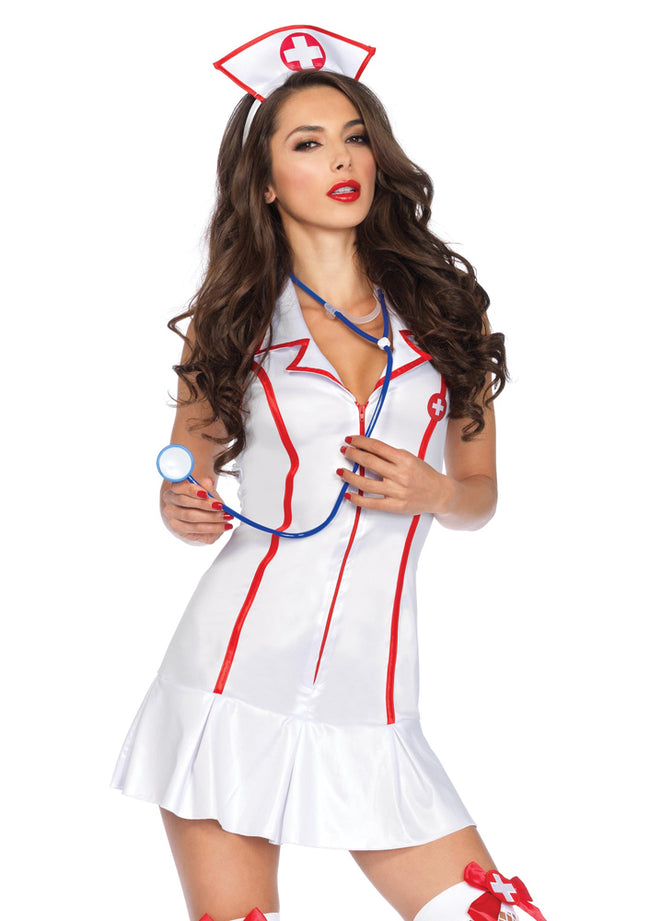 Leg Avenue Female 3Pc. Halter Nurse Costume 83050