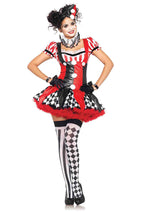 Leg Avenue Female 3PC.Harlequin Clown Costume 83929