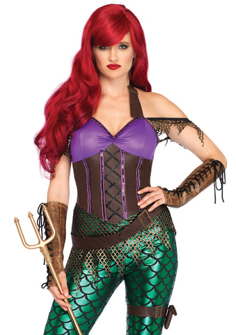 Leg Avenue Female 3PC.Rebel Mermaid Costume 86660