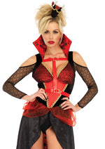 Leg Avenue Female 3PC.Rebel Red Queen Costume 86713