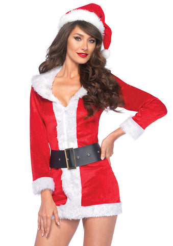 Leg Avenue Female 3PC.Secret Santa Costume 85528